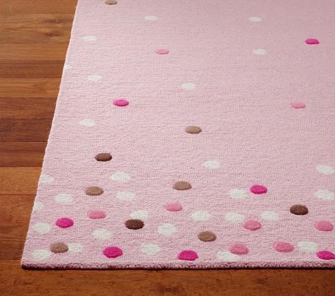 Confetti Dot Rug 8x10' Pink