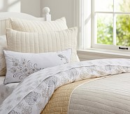 Silk Channel Quilt, Twin, Ivory