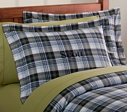 Kingston Plaid Standard Sham, Blue/Green