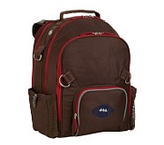 Fairfax Chocolate/Red Large Backpack, Football