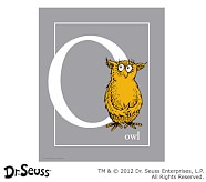 Dr. Seuss™ Alphabet Prints, Letter O, Grey, Owl