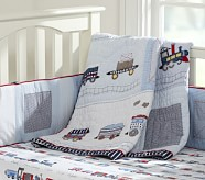 Logan Nursery Quilt Bedding Set: Toddler Quilt, Crib Skirt & Crib Fitted Sheet