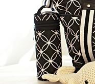 Black Geo Bottle Bag