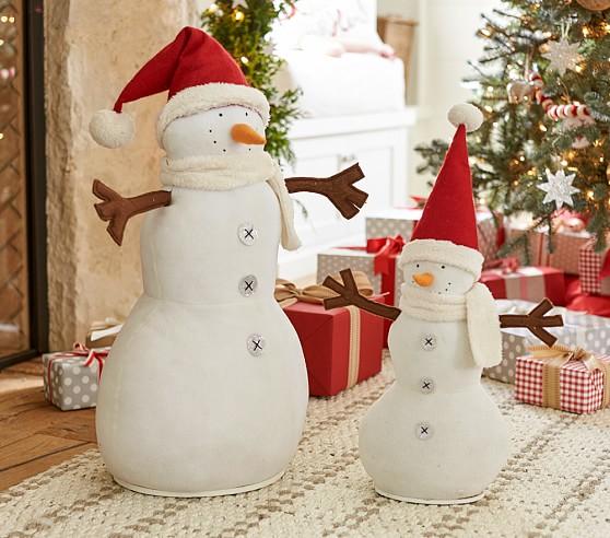 Snowman Hearth Plush Decor, Large