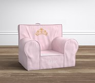 Light Pink Velvet Crown Anywhere Chair®