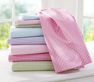 Gingham Sheet Set, Queen, Pink