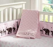 Pink Animal Parade Nursery Set: Crib Fitted Sheet, Toddler Blanket & Crib Skirt