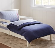 Chamois Toddler Duvet Cover, Navy