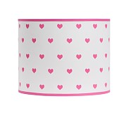 Dabney Heart Shade, Bright Pink
