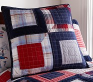 Patchwork Squares Quilted Euro Sham