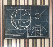 Sports Blueprint Art, Basketball