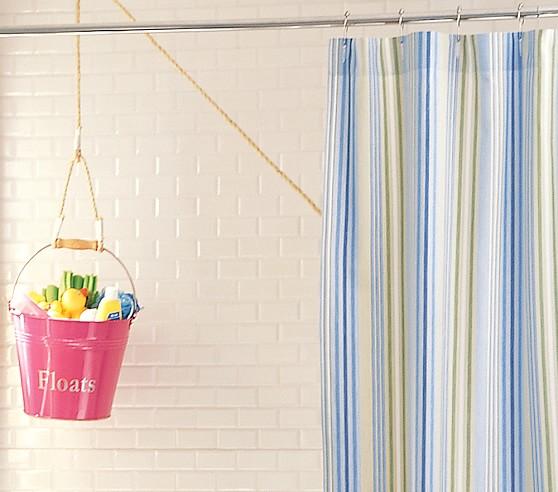 Simply Stripe Shower Curtain, Blue
