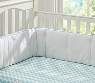 Harper Chevron Nursery Quilt Bedding Set: Aqua