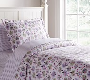 Tiny Trees & Owls Flannel Duvet Cover, Twin