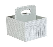 Canvas Diaper Caddy, Gray Geo