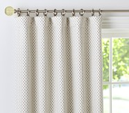 "Audrey Chenille Dot Panel with Blackout Liner 44 x 63"" Khaki"