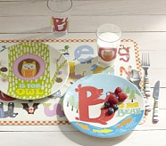Owl and Bear Alphabet Animal Collection, Plate, Set of 2