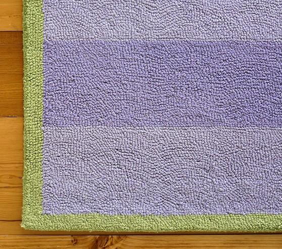 Lavender Rugby Stripe Rug Swatch