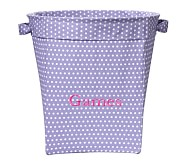 Girls' Large Canvas Buckets, Lavender Mini Dot