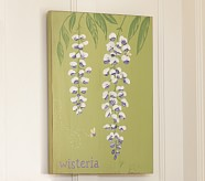 Summer Botanical Wisteria Plaque