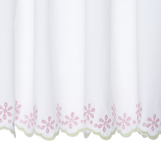 Eyelet Cuff Bed Skirt, Twin