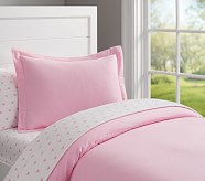 Flannel Duvet Cover, Twin, Pink