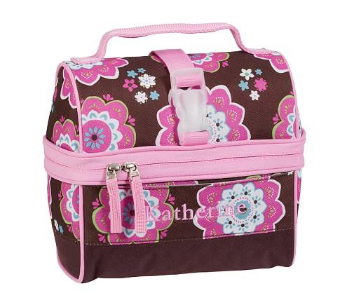 Mackenzie Chocolate Boho Retro Lunch Bag