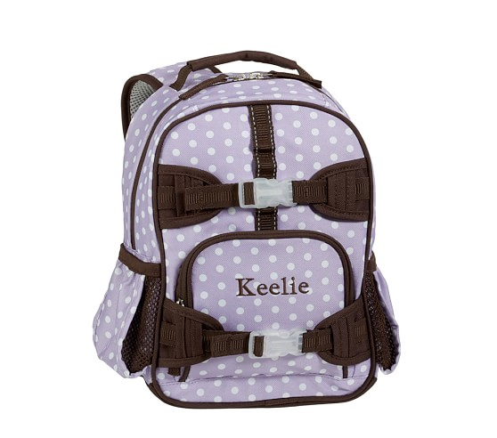 Mackenzie Lavender Dot Mini Backpack