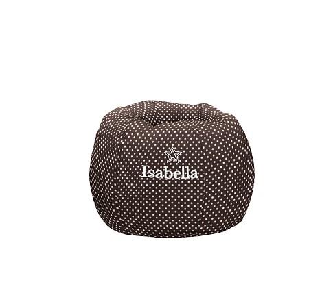 Regular Chocolate Mini Dot Anywhere Recycled Beanbag Slipcover Only