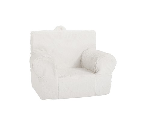 My First Anywhere Chair Slipcover, Ivory Fur
