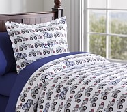 Under Construction Flannel Duvet Cover, Twin