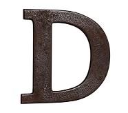 Faux Bronze Letter, D
