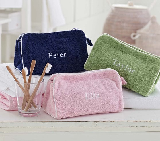 Triangle Toiletry Bags, Green