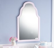 White Large Emma Mirror