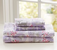 Friendly Fox Flannel Sheet Set, Twin