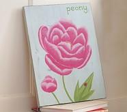 Summer Botanical Peony Plaque