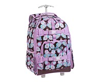 Mackenzie Lavender Butterfly Rolling Backpack