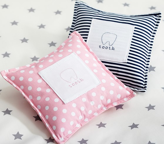 Tooth Fairy Pillow, Pink Dot