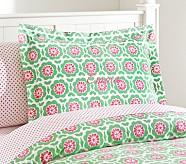 Vivian Standard Sham, Green/Pink