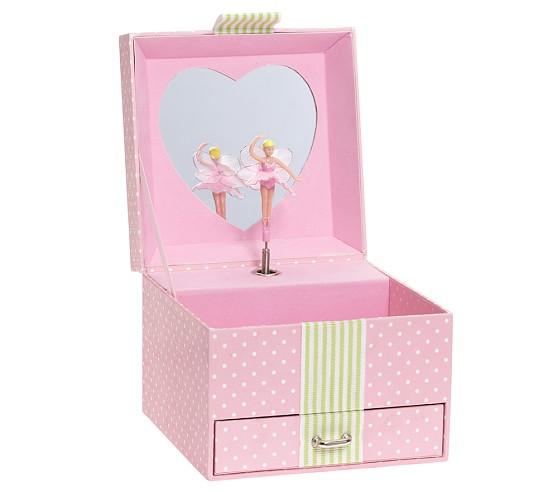 Pink Dot Sadie Jewelry Box, Small
