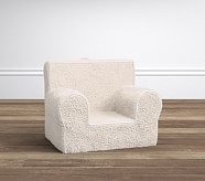 Cream Sherpa My First Anywhere Chair