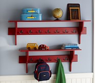"Riley Hook Shelf 36"", Red"