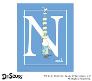 Dr. Seuss™ Alphabet Prints, Letter N, Blue, Neck