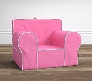 Bright Pink with White Piping Oversized Anywhere Chair®