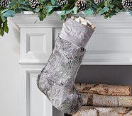 Gray Ombre Faux Fur Stocking