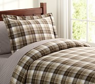 Kingston Duvet Cover, Twin, Green/Brown