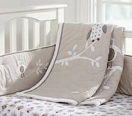 Hadley North Star Owl Nursery Quilt