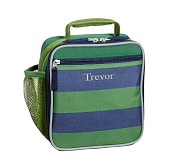 Classic Lunch Bag, Fairfax Green/Navy Stripe