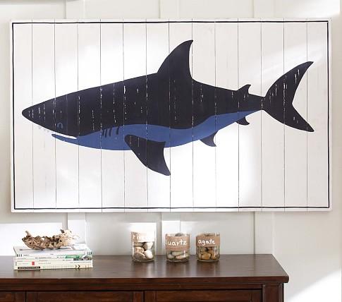 Planked Wood Shark Artwork