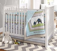 Brooks Nursery Quilt Bedding Set: Crib Fitted Sheet, Toddler Quilt & Crib Skirt